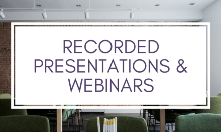 Presentations and Webinars